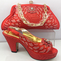NEW Italian shoe with matching bag set for party top quality matching shoes and bag italy new design shoe and bag set to wedding