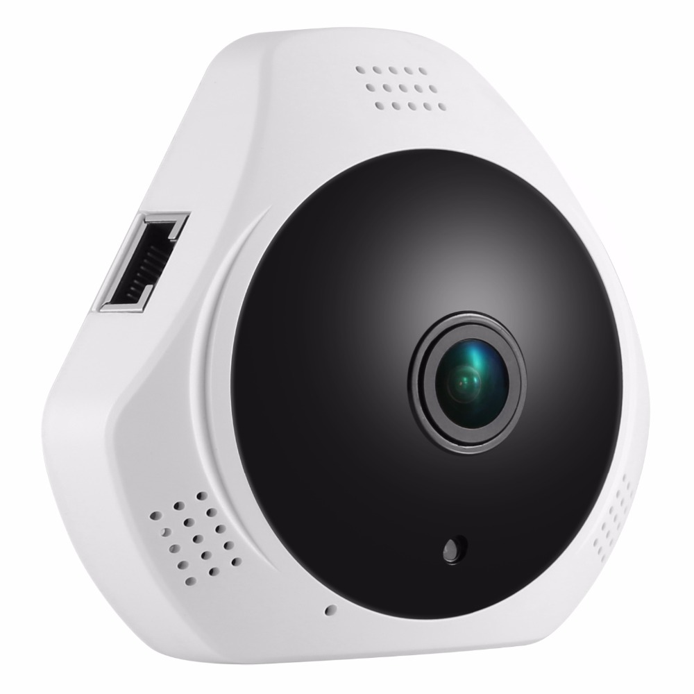 360 Degree Fish-eye 960P HD Panoramic IP Camera 1.3MP Wireless Security Camera & Two-Way Audio, Night Vision , Motion Detection hd 960p wifi wireless robot security ip camera 160 degree night vision motion detection audio alarm function video home monitor
