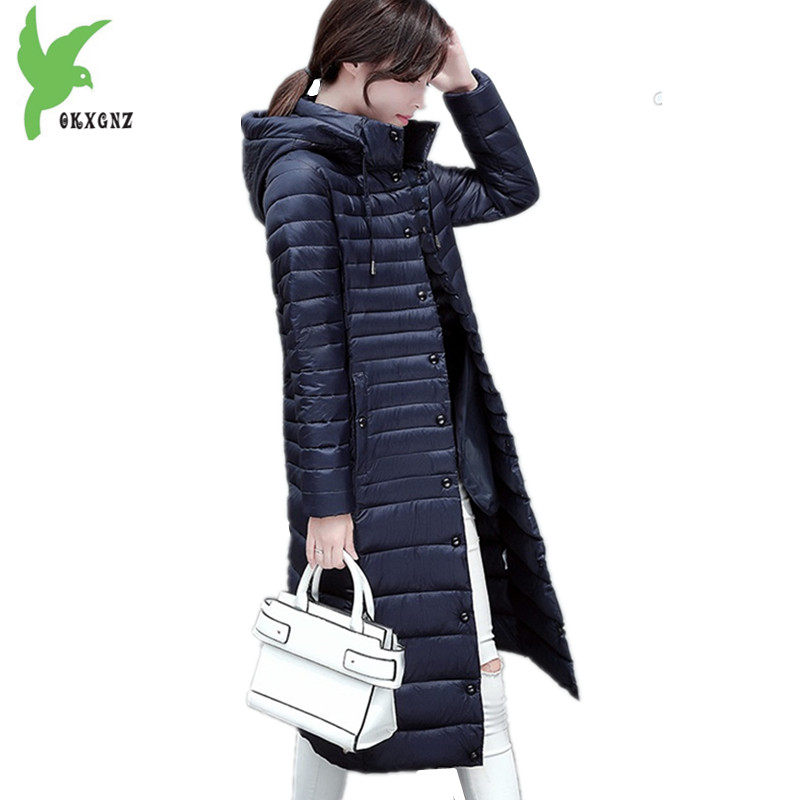 Boutique Women Winter Down cotton Jacket Coats Lengthened Hooded Parkas Light thin Warm Jacket Plus size Cotton Coats OKXGNZ1154 2018 new women winter down cotton jacket coats plus size 7xl long style parkas light thin hooded warm cotton jackets okxgnz 1253