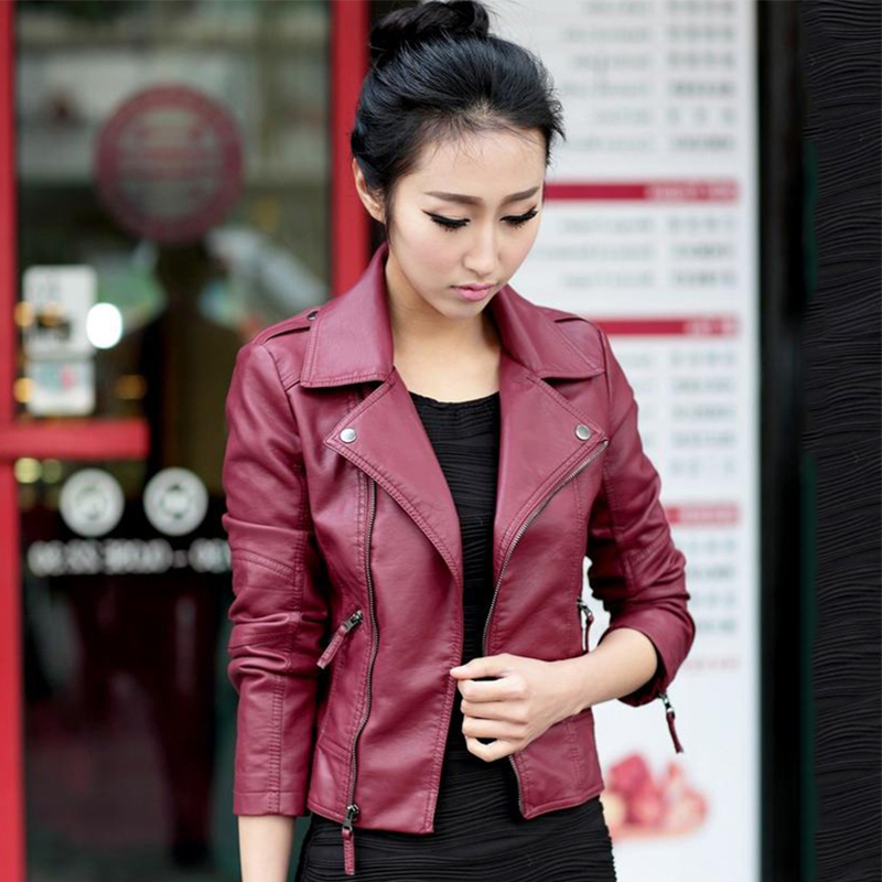 2019 New Arrival Women Autumn Leather Jacket Classical Moto Biker Female Leather Coat Outwear PU Casaco Femimino