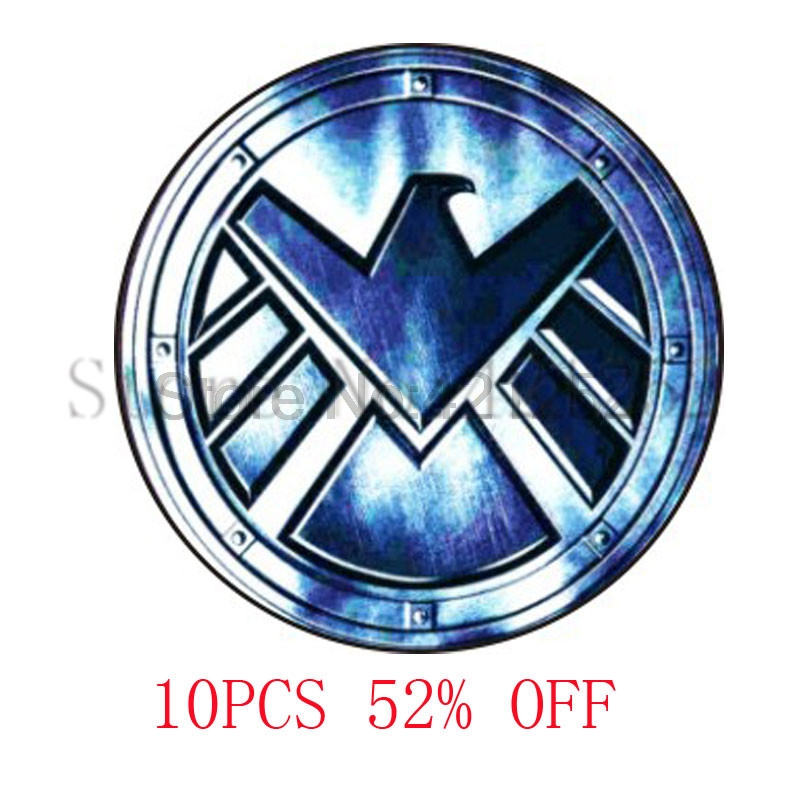 Agent of S.H.I.E.L.D Pendant The Avengers Shield Glass Photo Cabochon Necklace keyring b ...