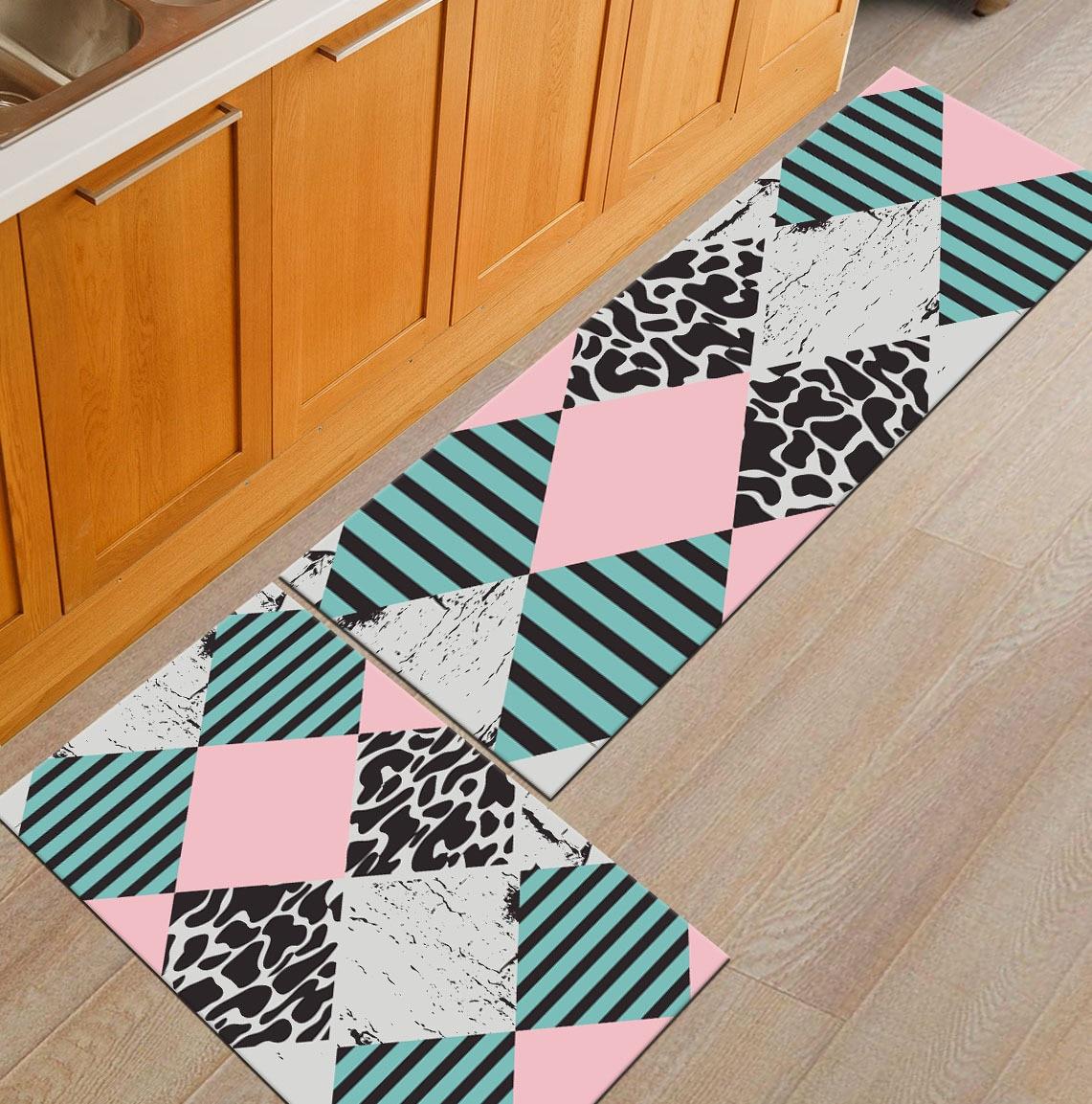 Zeegle Добро пожаловать Entrane коврики против скольжения Кухня Rugs Гостиная ковры Спальня прикроватные коврики Кофе стол коврики коврик для ванн...