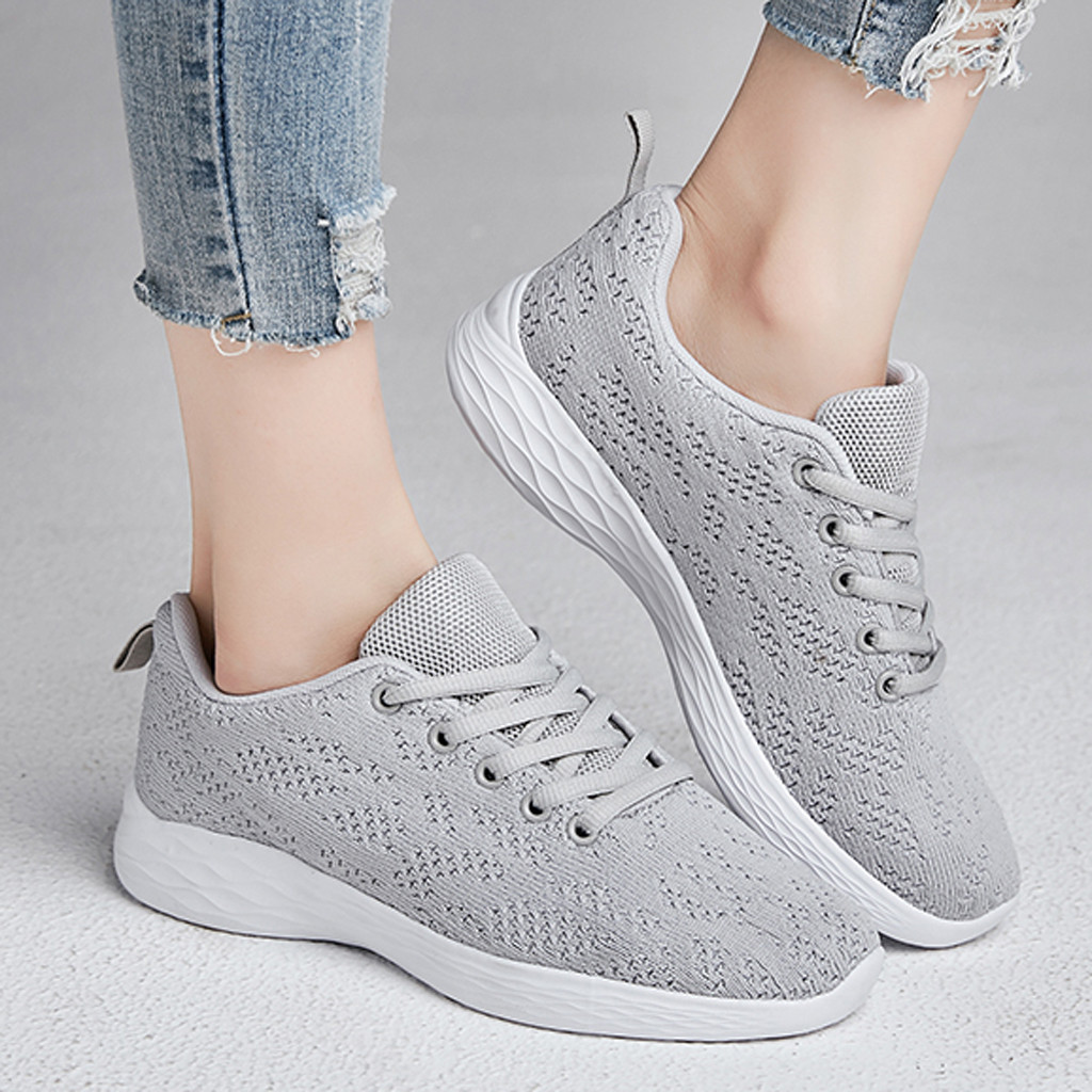 Women's Leisure Breathable Mesh sapatilhas mulher Fitness espadrilles Running Sport Sneakers Shoes basket femme sneakers women(China)