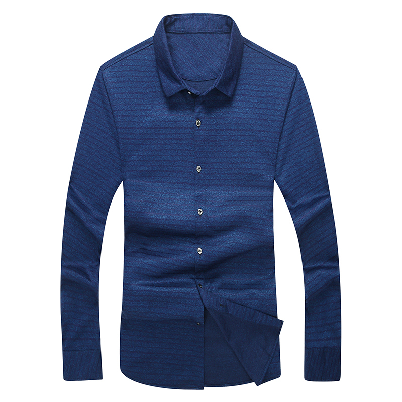 big plus size 8XL 7XL 6XL 5XL Brand 2018 New Striped Shirt Men Causal Shirts High quality Clothing Men Business Dress Shirt