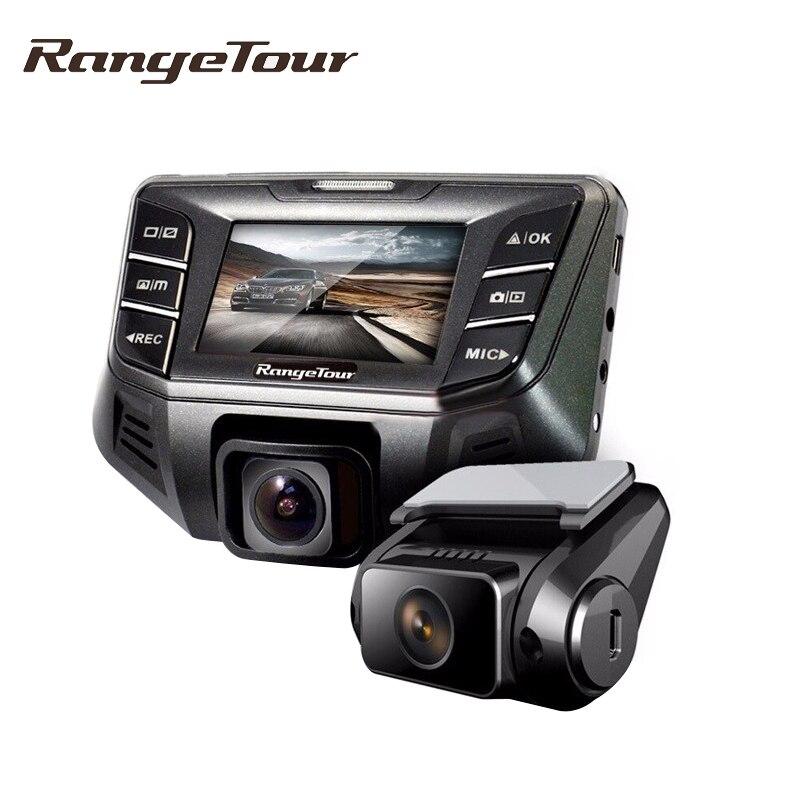 imágenes para Gama Gira Novatek 96655 Lente Dual Cámara Del Coche DVR Grabador B70 Plus Full HD 1080 P Dash Dashboard Dashcam 170 Grados + Retrovisor Cam