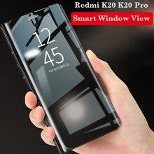 Smart Window View Leather Flip Case For Xiaomi MI CC9 CC9E A3 lite Mirror Stand Cover Redmi Note 8 K20 Pro Note 7 7A Phone Case zokteec luxury flip business wallet case for xiaomi redmi note 4 4x note 5 6 7 pro plus cc9e cc9 k20 pro go a3 phone cover case