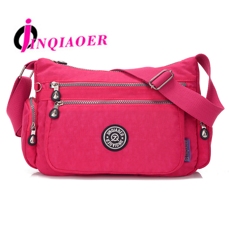 JINQIAOER Woman Nylon Bag Casual Shoulder Bag Women Messenger Bags For Woman Handbag Ladies Crossbody Bags Bolsa Feminina WH373 jinqiaoer woman nylon bag women messenger bags for women handbags shoulder bag large capacity stroller bag bolsa feminina wh392