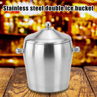 Stainless Steel ices Bucket Double Layer Cool for Champagne Wine Wedding Party J2Y