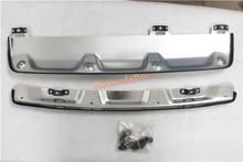 Алюминиевый сплав спереди + заднего бампера протектор опорная плита защита для Honda CRV 2012-2014 Touring Sport