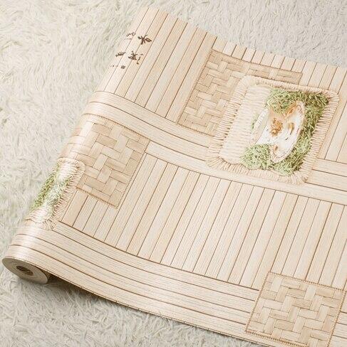 Chinois rétro thé restaurant fond d'écran papier peint 3D mural papier peint 3D fleur bambou papier peint salon papier peint rouleau - 4
