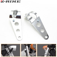 New Arrival Motorcycle Accessories 35mm 43mm Headlight Mount Bracket Chrome Head Light Lamp Holder Adjuster Fork
