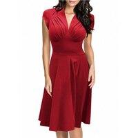 2016 עיצוב חדש במערב שמלות צבע מוצק סגנון אופנה גבירותיי קיץ ללא שרוולים הולם Officewear L36103-3