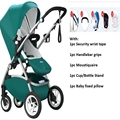 Free Shipping Luxury Baby Stroller 3 in 1 Suspension Baby Pushchair Carts High Landscape Stroller