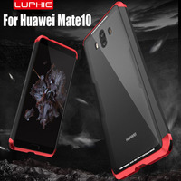 Case For Huawei Mate 10 Pro Original Luphie Aluminum Cap PC Frame 9H Glass Back Dual
