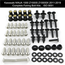 For Kawasaki Ninja 1000 Z1000S Z1000SX 2011-2019 Complete Full Fairing Bolts Kit Clips Nuts Covering Bolts Screw Stainless Steel for kawasaki fairing bolts plum shape screw spring nuts ninja 1000 ninja 650 moto body screw motorcycle accessories