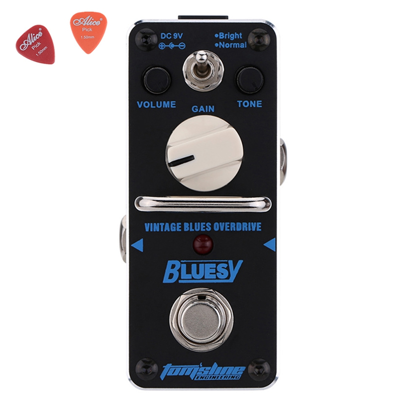 ABY-3 Bluesy Vintage Blues Overdrive Guitar Effect  Pedal Aroma Mini Size  With True Bypass Effects Pedals aov 3 ocean verb digital reverb electric guitar effect pedal aroma mini digital pedals with true bypass guitar parts