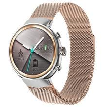 הטוב ביותר ממילאנו לולאה להקת עבור Asus Zenwatch 3 מגנטי יניקה החלפת צמיד רצועת השעון אביזרים שחור/כסף/זהב