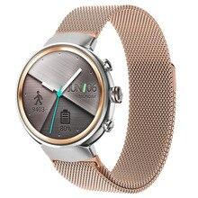 La mejor Correa Milanese Loop para Asus Zenwatch 3 pulsera magnética de repuesto de succión accesorios de correa de reloj negro/plata/oro