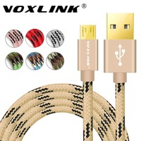 Voxlink Micro USB Cable 2A 0 5M 1M 2M 3M Metal Braided Cord Data Sync Wire