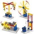 Blocos de construção engenheiro mecânico auxiliar de ensino brinquedos 3 em 1 moinho de vento merry go round levantar brinquedos wange compatível com lego