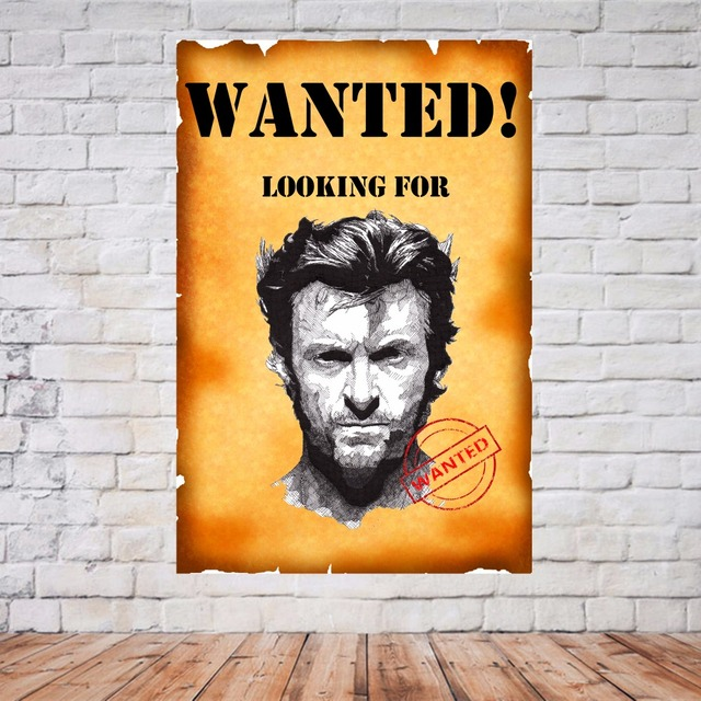 Wanted Wolverine X Men Vintage Canvas Painting Modern Wall Art ...