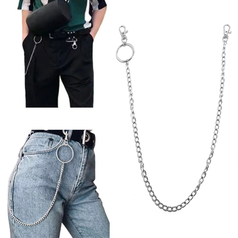 Long Metal Wallet Chain Leash Pant Jean Keychain Ring Clip Men 39 s Hip Hop Jewelry in Chain Necklaces from Jewelry amp Accessories