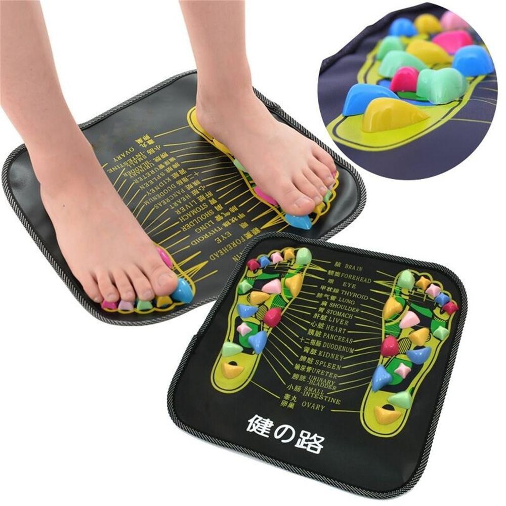 Haut Pflege Werkzeuge Fußpflege-utensil Reflexzonenmassage Bein Stein Fuß Akupunkturpunkte Massage Matte Schmerzen Erleichterung Füße Spaziergang Entspannen Massager Gesundheit Fuß Pflege Muscle Stimulation Pad