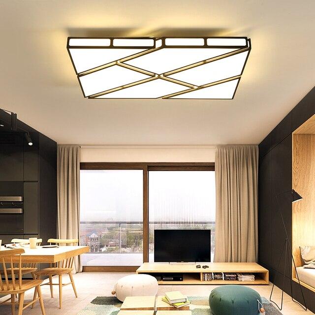 Study Room Lighting Inside Modern Led Ceiling Lights For Living Study Room Ac85265v White Or Black Lamp