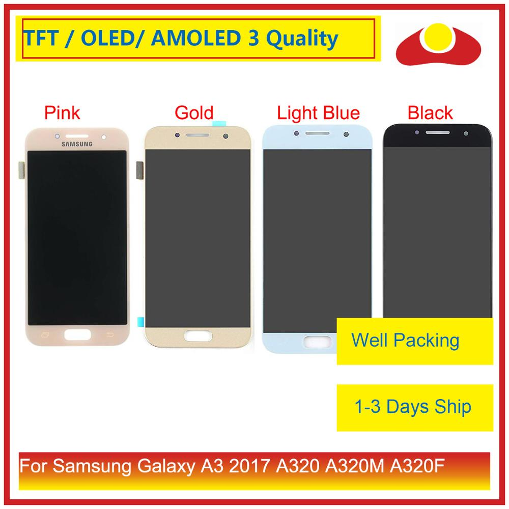 ORIGINAL For Samsung Galaxy A3 2017 <font><b>A320</b></font> A320M A320F A320Y LCD Display With Touch Screen Digitizer Panel Pantalla Complete image