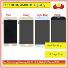 ORIJINAL Samsung Galaxy A3 2017 A320 A320M A320F A320Y lcd ekran Ile dokunmatik ekran digitizer Paneli Pantalla Komple