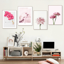 купить Peony Canvas Painting Flower Posters And Prints Nordic Decoration Home Wall Art Wall Pictures For Living Room Unframed по цене 191.49 рублей