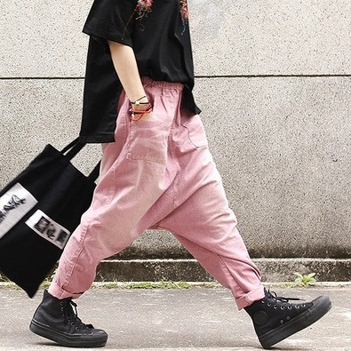 New product release in the summer of 2017, the original design cowboy cotton loose big yards of women's harem  pants in the winter of 2016 new product the national wind original design thickened cowboy cotton women cotton coat loose big yards