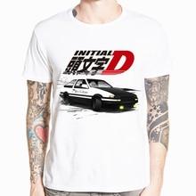 Новинка, Мужская футболка с принтом в стиле японского аниме, футболка с круглым вырезом и короткими рукавами, летняя повседневная футболка AE86 Initial D Homme, уличная одежда