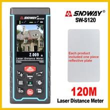 SNDWAY Laser rangefinder 120m Tilt Rechargeable Digital Camera Distance Meter Rangefinder