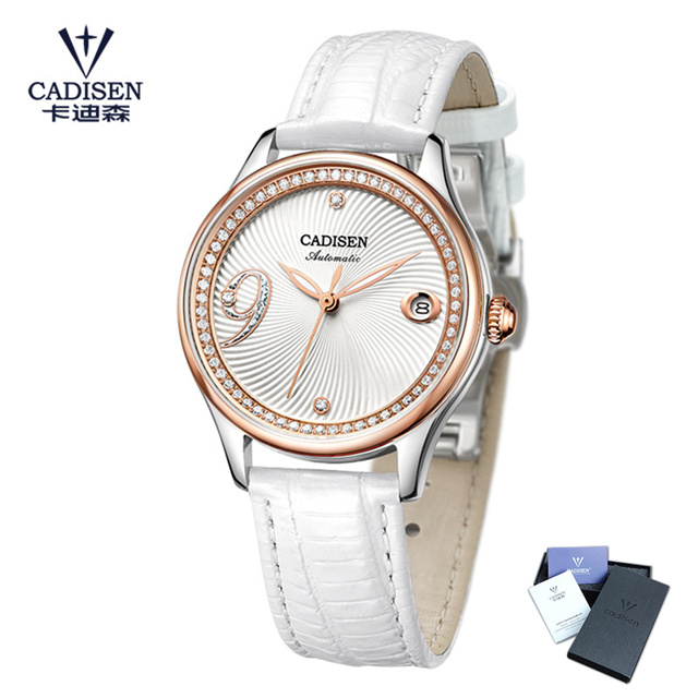 CADISEN Fashion Women Watch Automatic Mechanical Watches Ladies Luxury Brand Waterproof Wristwatch Sapphire Crystal Dial Clock