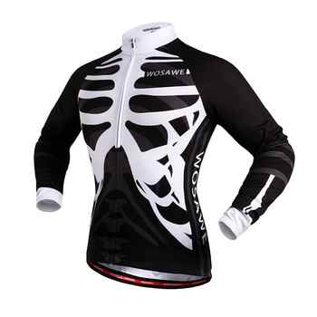WOSAWE Maillot Ciclismo Roupa de Ciclismo Esqueleto Skeleton Cycling Suits Men Silicon Gel Padded Bicycle Clothing Set Motocross