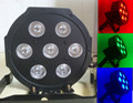 7x12W LED Flat SlimPar Quad Light 4in1  LED DJ Wash Light Stage Uplighting No Noise