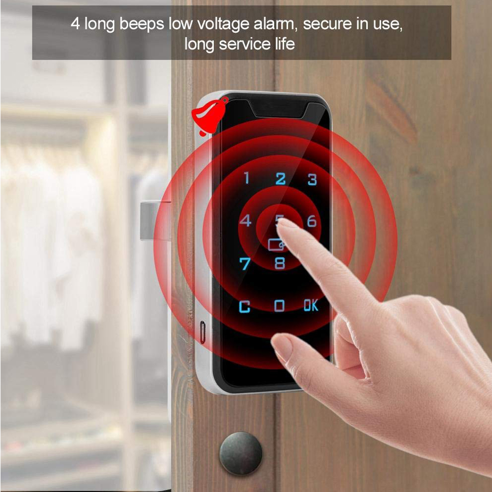 953M1 Smart Wardrobes Universal Zinc Alloy Digital Cabinet Anti Theft Password Lock Electronic Battery Powered Touch Keypad(China)