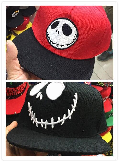 The Nightmare Before Christmas Baseball Hat Adult Men Women Causal Hip Hop Adjustable Snapback Caps Cosplay Accessories