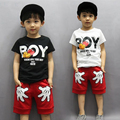 2017 new children's clothing boys summer Whale T-shirt and Striped Shorts sports suit brand children boy Baby Kids Outfits