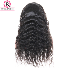Silk Base Full Lace Human Hair Wigs Pre Plucked Brazilian Loose Wave Glueless Full Lace Wig With Baby Hair Rosa Queen Remy Hair