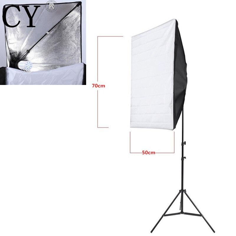 INNO E27 40W LED Light 110V Portable 50cm x 70cm Photo Studio Softbox With Studio Photography 200cm Light Stand Kit
