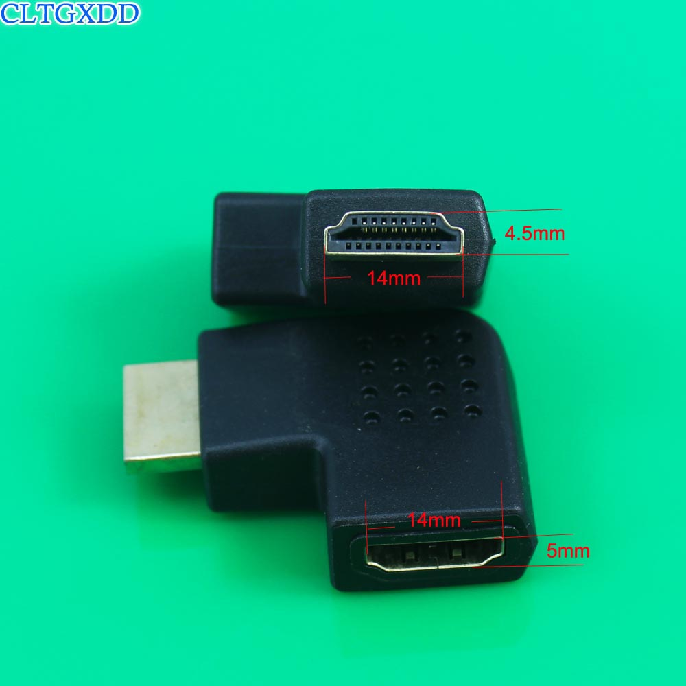 90//270 Degree HDMI Male To Female L-type Right Angle Connectors Adapter NEW