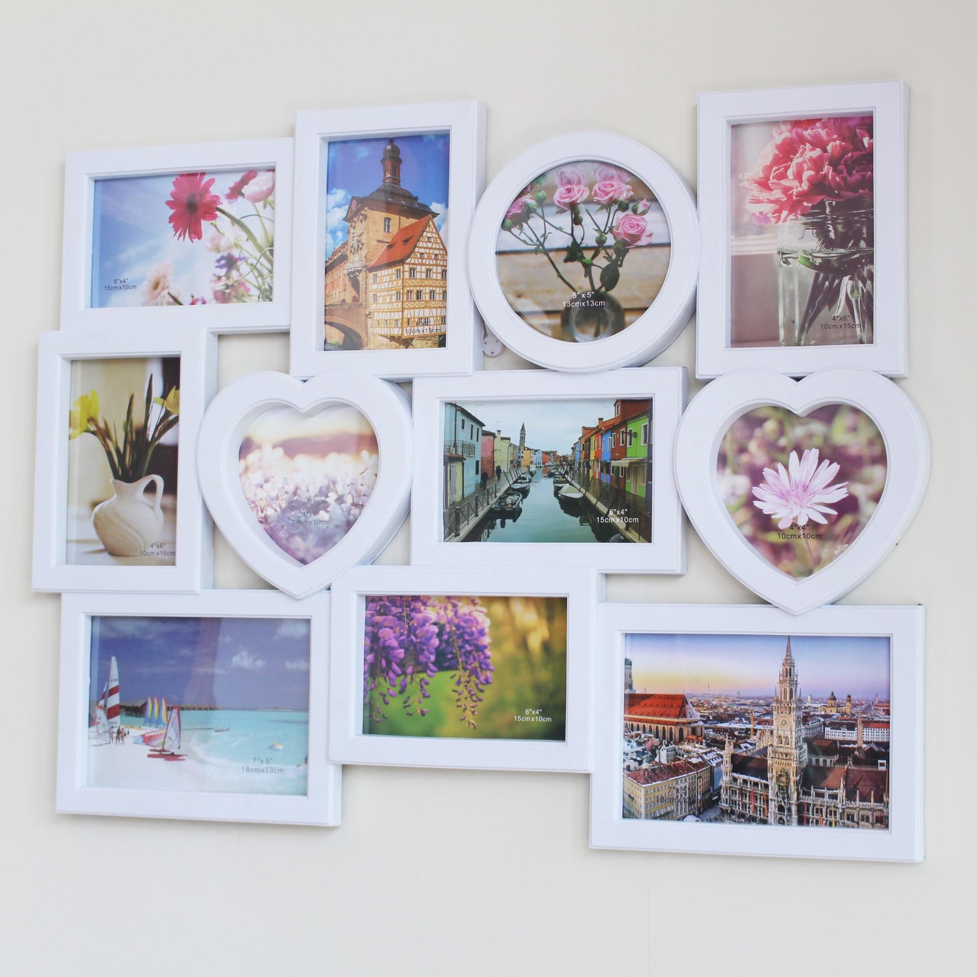 Offre spéciale Date Nouveau Gros Studio Combinaison cadre Photo Creative Mixte mur de photos En Plastique Simple robe de mariage Art Photo