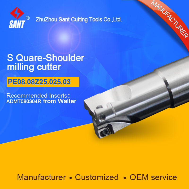 Square shoulder milling cutter Indexable Milling cutter insert ADMT080304R from Walter disc PE08.08Z25.025.03 hot selling abrod