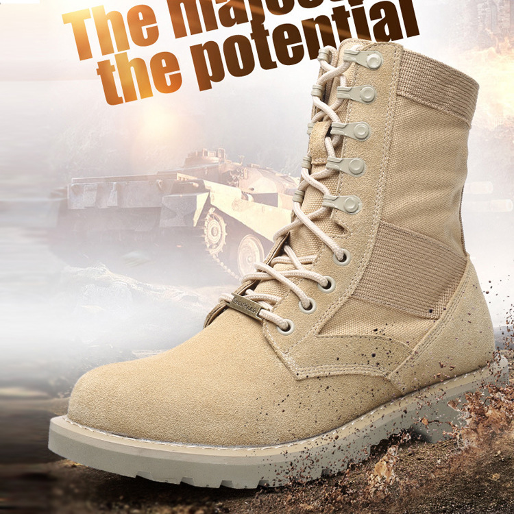 Winter Autumn Men Army Boots Fashion Tactical Military Martins Boots Leather Motorcycle Casual Shoes Men's Ankle Desert Boots