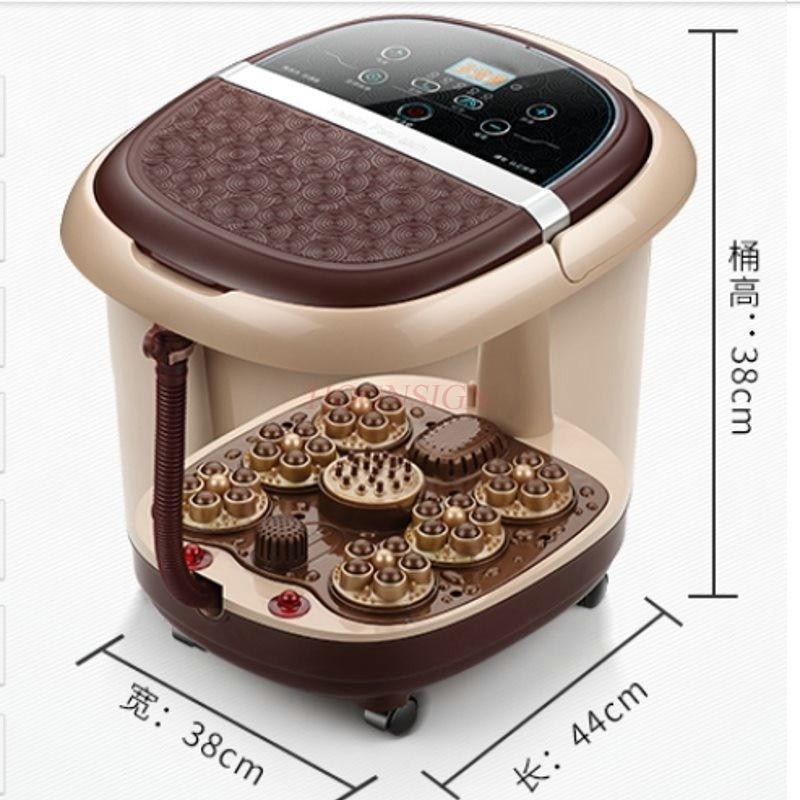 все цены на Electric Feet Cleansing Foot Tub Automatic Massager Heated Footbath Electronic Massage Foam Basin Deep Barrel Plantar Bath Home онлайн