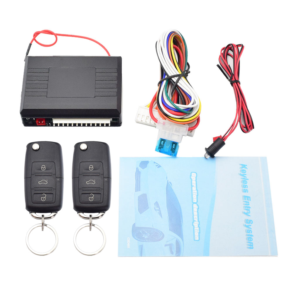 Universal Car Central Locking Kit Auto Keyless Entry System Two Remote Controller Vehicle Door Lock Car Alarm Central Lock Set