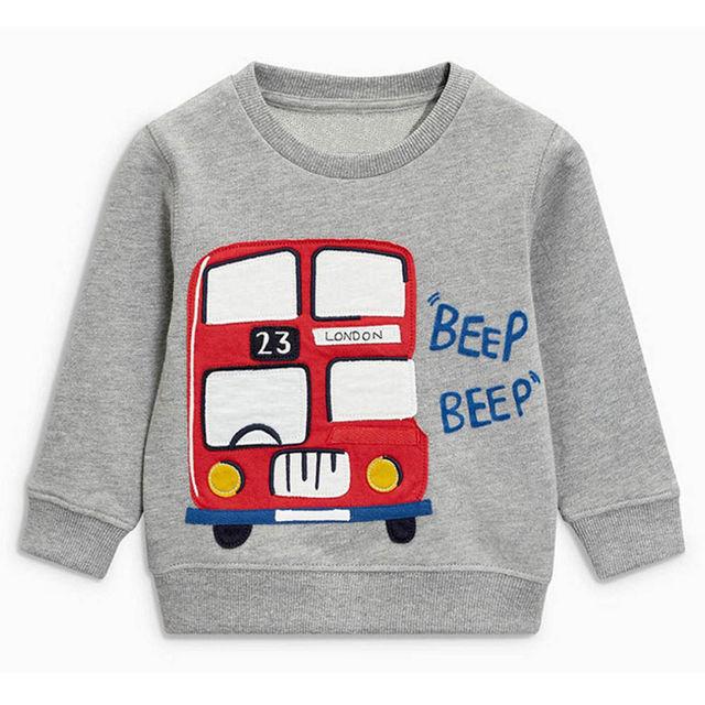 fe603b89e920 Littlemandy Sweater Bus Baby Girls Boys shirt Kids Long Sleeve Tops ...