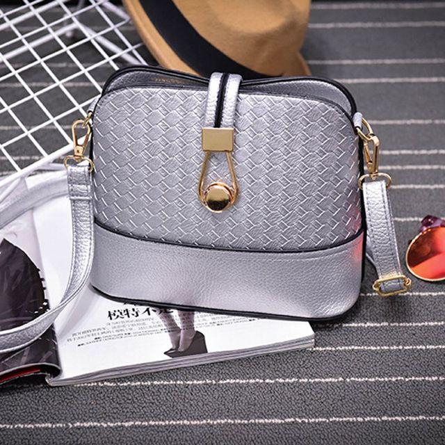 Women Sling Bags Weave shell Women Shoulder Bags Fashion Leather Sling Crossbady Bag messenger bag 3